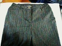 TAN JAY Women's Size 12 Elastic Banded Waist Pinstripe Dress Pants Slacks 29x28