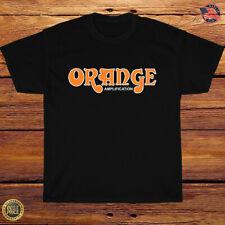 New Shirt Orange Amplification Music Logo T-Shirt Size S-3XL
