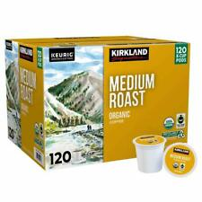 Kirkland Signature Organic Coffee K-Cups, Medium Roast - 120 Count AB condition
