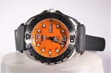 Seiko 5 Sports Automatic Men's Watch Orange Face Day Date Model 4R36A 24 Jewels