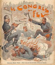 CLEMENCEAU BRIAND VIVIANI POMPIERS IMAGE MAURICE RADIGUET ILLUSTRATEUR 1908