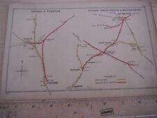 DUDLEY TIPTON WEDNESBURY ALBION OXFORD YARNTON ISLIP KIDLINGTON RAILWAY MAP 1902