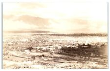 RPPC Aerial View of Tuscon, AZ from nearby Mountain Postcard