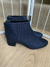Brand New Blue Glitter Ankle Boots Size 40  Uk 61/2