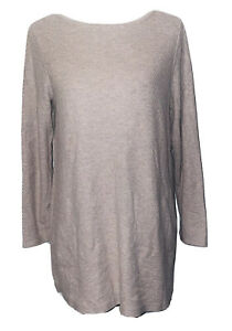 J.Jill Lightweight Cotton Blend Waffle-Knit Tunic Sweater BasketWeave Tan Medium
