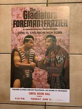 Original 1976 George Foreman Vs Joe Frazier Vintage Boxing Poster Mint Condition