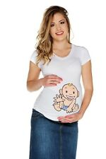 (Nr.0TM-T2-L) Gr.L Schwangerschafts-T-Shirt Umstandsmode UMTSANDS-TSHIRT NEU