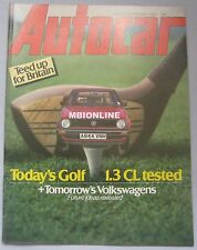 Autocar magazine 18/2/1984 featuring VW Golf, Amilcar, Aston Martin