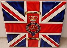 Napoleonic Wars British Regiment flag ~Corunna ~King's colour FLAG CERAMIC TILE