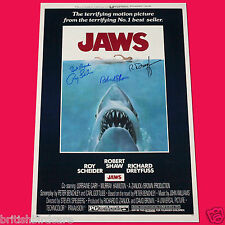 Jaws 3 Cast Signed Autograph Movie Poster A3 297 X 420mm (very Rare)