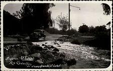 Rio Ceballos Argentinien Südamerika s/w AK ~1950/60 Straße am Flus altes Auto