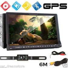 "HD Touch Screen 7"" Car Stereo Radio DVD Player GPS Navi Bluetooth iPod 2Din+Cam"