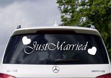 Just Married Car Rear Window Banner Sticker Decal Wedding Sign