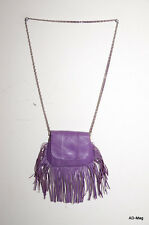 Sac à main / Pochette Femme en Cuir - PIECES PCNIA Leather Bag - Violet - NEUF