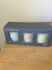 Set Of 3 Votive Candles Linea Home NEW