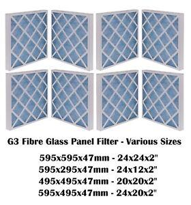 G3 PANEL FILTER - SPRAY BOOTH - Fibreglass Panel Filter - Various Sizes - HVAC