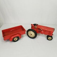 Vintage Tru Scale Tractor Fender Side Utility Trailer With Tailgate Red 1:18
