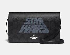 Authentic Coach Star Wars Hayden foldover crossbody clutch  NEW