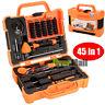 Pro 45in1 Screwdriver Pry Repair Opening Tools Box Set Kit For Mobile Phone Pad