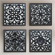 Wall Panel set for Living Room Black Antique finish MDF