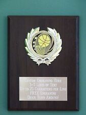 Basketball or Any Other Sport Award Plaque 6x8 Trophy Eng.