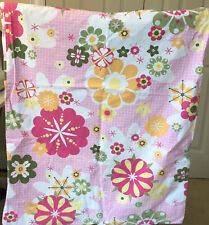 Pottery Barn Teen Full Sheet Set Floral Mod Pink And Green