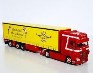"""DAF XF SSC curtainside trailer""""Michael Fuhrbetrieb""""WSI truck models 01-3298"""