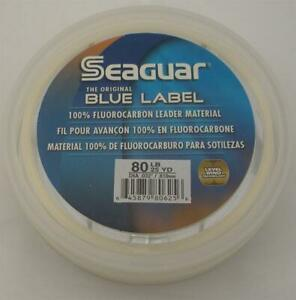 Seaguar 80FC25 Fluorocarbon Invisible Leader Material 80Lb Test 25Yd 15217