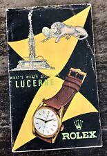 Bucherer Rolex vintage anni 1950 BROCHURE LUCERNE Mappa Bubbleback Bombay OEM