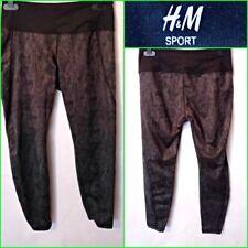 H&M UK 10/12 WOMEN`S BLACK MIX SNAKE SKIN PRINT PANTS LEGGINGS WORKOUT GYM #4558