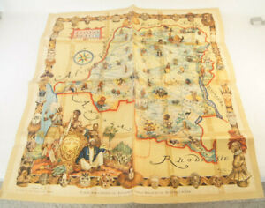 """Vintage Map Congo Belge James Thiriar Cote d' Office Du Tourisme 1950: 32"""" X 30"""""""