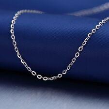 "Solid Platinum 950 Necklace 16.5""L Women & Men O Chain Link  2.5-3g"