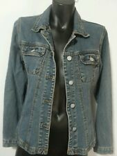 501's LEVI'S VINTAGE USED DISTRESS BLUE DENIM JACKET PETITE FITTED SIZE 8 GRUNGE