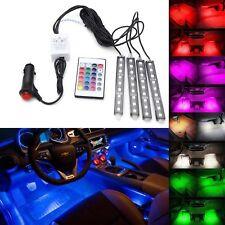 4x 5050SMD 9 LED RGB Car Strip Light Interior Decorative Colorful Remote Control