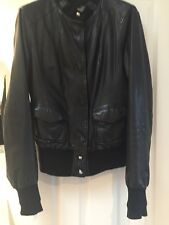 BRODGEN Black leather jacket - made in Italy - Size MEDIUM