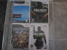 wii spiele lot of 4 gebraucht call of duty 3, mw3, black ops, cabela's legendary