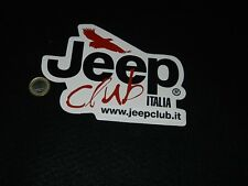 adesivo sticker  jeep italia club  mint good  cheap delivery
