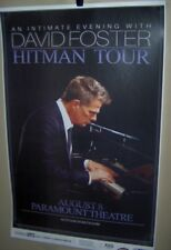 DAVID FOSTER in Concert Show Poster Denver Co August 8th 2018 HITMAN Tour COOL