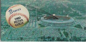 1980 ATLANTA BRAVES MLB MEDIA GUIDE VINTAGE FREE SHIPPING