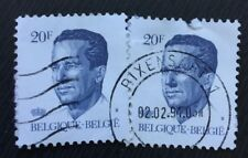 Belgium stamps - King Baudouin 1984 20 franc x2 FREE P & P