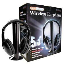 CUFFIE STEREO WIRELESS HEADPHONE 5 IN 1 HI-FI PROFESSIONALE SENZA FILI CHAT RADI