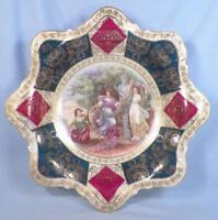 Antique Cabinet Bowl Greek Women in Garden Porcelain Hand Painted Austria Beauty