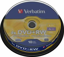 Verbatim 4x DVD+RW  50 Blank Discs 5 X10 Pack Rewritable 4.7GB 120 Mins 4X Speed