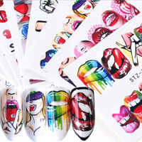 3D Beauty Nail Art Stickers Water Transfer Stickers Decoration Decals Tips HO