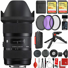 Sigma 18-35mm f/1.8 Dc Hsm Art Lens for Canon Eos Ef-Mount + 128Gb 19Pc Bundle