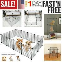 12 Panels Metal Pet Playpen Dog Kennel Pets Fence Exercise Cage Barrier Kennel