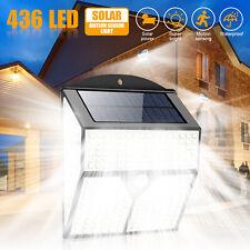 436 LED PIR Motion Sensor Wall Light Solar Power Waterproof Outdoor Garden Lamp