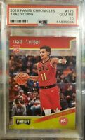 "POP 32 -- Trae Young RC 2018 Panini Chronicles Rookie ""Playoff"" #175 PSA 10"