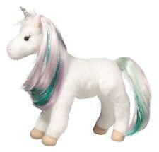 "Douglas Jules PRINCESS UNICORN 10"" Plush Brushable Rainbow Mane Tail NEW"