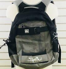 Quicksilver Backpack Gray Black 17x16 Burnside III Adjustable Straps